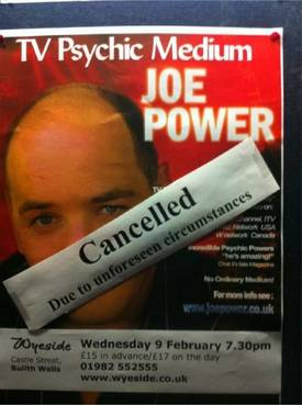 Cancelled due to unforeseen circumstances